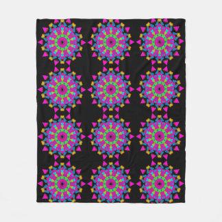 Mystische Mandala-Kunst auf Fleece-Decke Fleecedecke