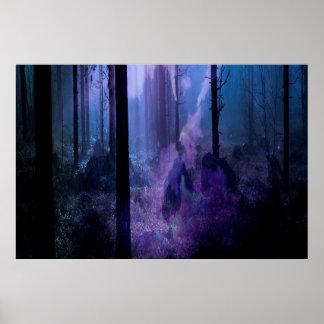 Mystische Nacht Poster