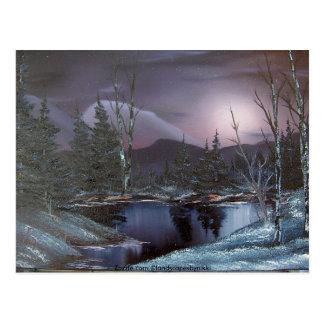 Mystische Schneefälle Postkarte