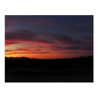 Mystische Sonnenuntergang-Postkarte Postkarte