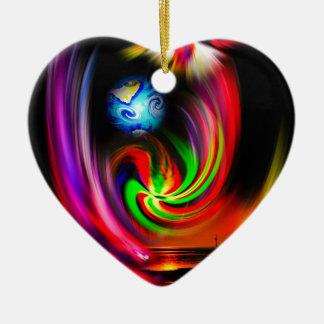 Mystische Welt Keramik Herz-Ornament