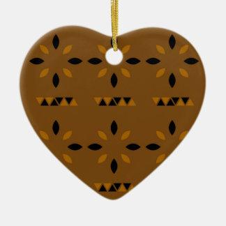 Mystischer arabischer Mandalas Keramik Herz-Ornament
