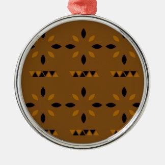 Mystischer arabischer Mandalas Rundes Silberfarbenes Ornament