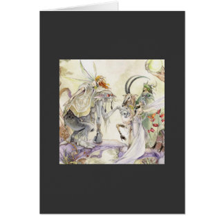 Mystischer Fairie Krieger Karte