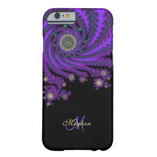 Mystischer lila personalisierter Fraktal iPhone 6 Barely There iPhone 6 Hülle