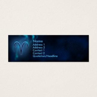 Mystischer Tierkreis - Widder Mini Visitenkarte