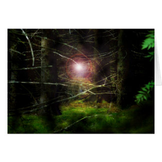 Mystischer Wald Grußkarte