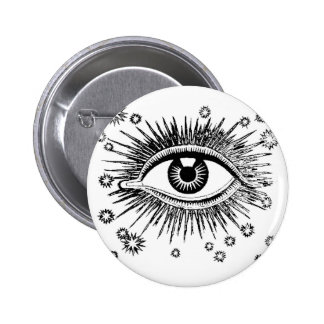 Mystisches Auge sieht alle Runder Button 5,7 Cm