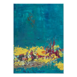 Mystisches Blau - abstrakte Kunst Poster