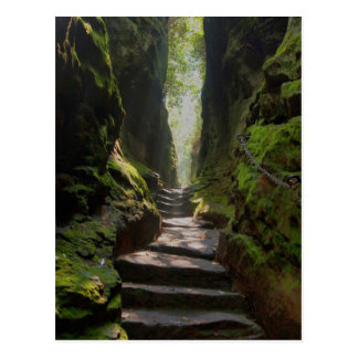 Mystisches Treppenhaus Postkarte