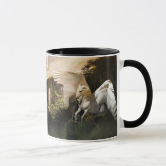 Mythische fliegende Pegasus-Schloss-Ruine-Tasse Tasse