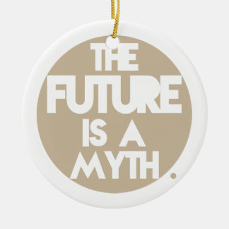 Mythos (Brown) Rundes Keramik Ornament