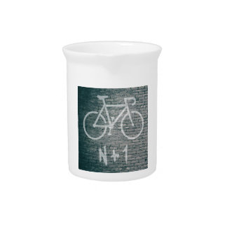 N+1 Fahrrad-Graffiti Krug
