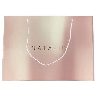 N A T A L D.H. Rosen-Gold erröten perliges Große Geschenktüte