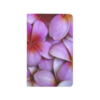 N.A., USA, Maui, Hawaii. Rosa Plumeriablüten Taschennotizbuch