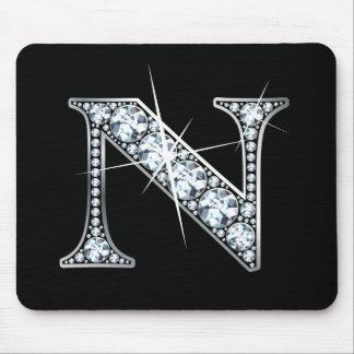 """""""N-"""" Diamant Bling Mousepad"""