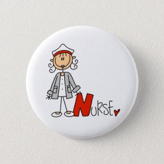 N ist für Krankenschwester Runder Button 5,1 Cm