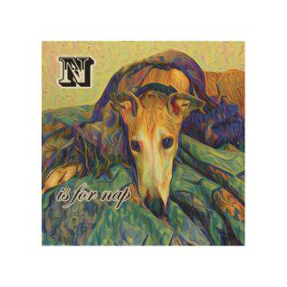 N ist für Nickerchen Holzdruck