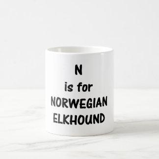 n ist norwegisches elkhound.png kaffeetasse