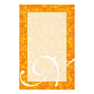 """N-Monogramm """"Champagne sprudelt"""" feines gezeichnet Briefpapier"""