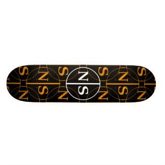 N|S Orange Skateboard Bretter