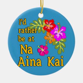 Na Aina Kai würde ich eher an Na Aina Kai Hawaii Rundes Keramik Ornament