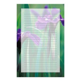 Na, USA, Alaska, Ritter-Insel, wilde Iris Briefpapier