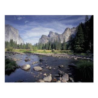 Na, USA, Kalifornien, Yosemite NP, Talansicht Postkarte