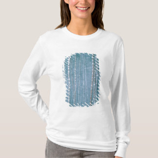 NA, USA, WY. Snowy-Winterszene unter T-Shirt