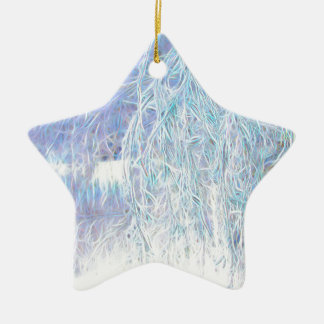 Nach dem Icestorm-Grünen Glühen Keramik Stern-Ornament