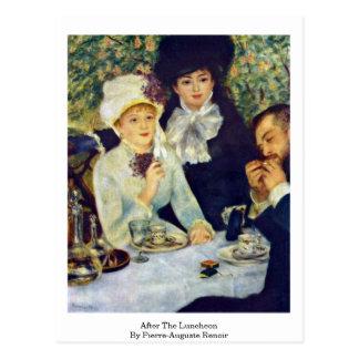 Nach dem Mittagessen durch Pierre-Auguste Renoir Postkarte