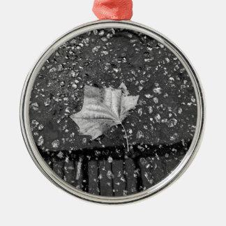 Nach dem Regen-Sturm Rundes Silberfarbenes Ornament