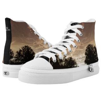Nach dem Sturm-landschaftlichen tief gewurzelt Hoch-geschnittene Sneaker