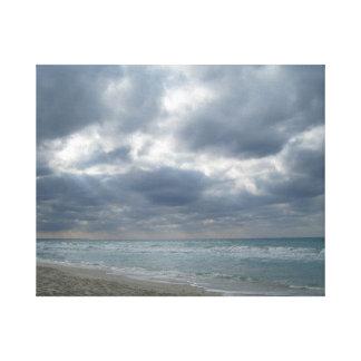 Nach dem Sturm: Varadero, Kuba Leinwanddruck