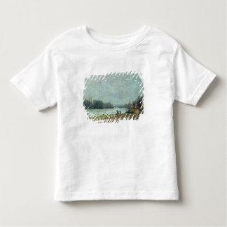 Nach dem Tauwetter die Seine an Suresnes Brücke Kleinkinder T-shirt