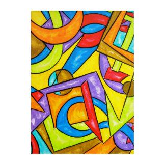 Nach der Anweisung-Abstrakten Kunst geometrisch