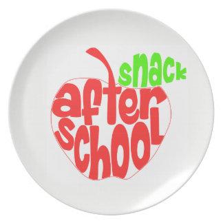 Nach der Schule Imbiss-Melamin-Platte Teller
