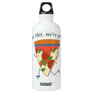 Nach diesem erhalten wir Pizza! Für Läufer Aluminiumwasserflasche