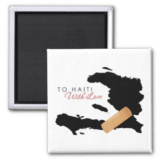 Nach Haiti mit Liebe Quadratischer Magnet