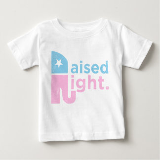 Nach rechts angehoben baby t-shirt