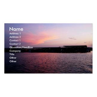 Nach Sonnenuntergang am Dock Visitenkarten