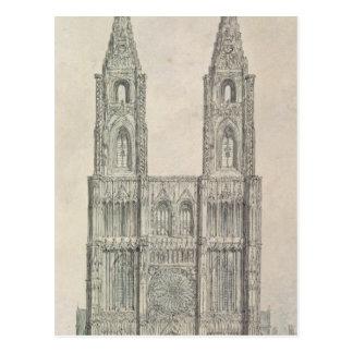 Nach Westen Front von Straßburg-Kathedrale Postkarte
