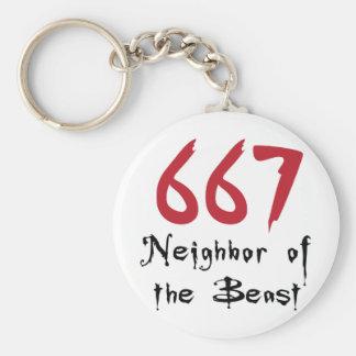 Nachbar 667 des Tieres Schlüsselanhänger