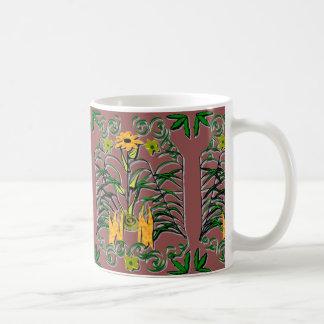 Nachdenkliche botanische Kaffee-Tasse Kaffeetasse