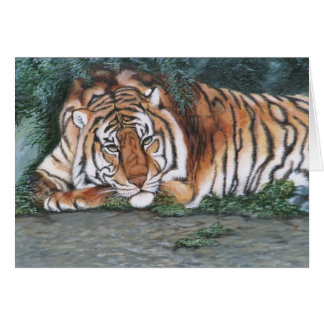 """""""Nachdenklicher Tiger """" Karte"""