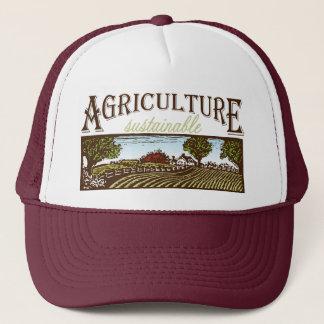 Nachhaltige Landwirtschaftsbauernhofszene Truckerkappe