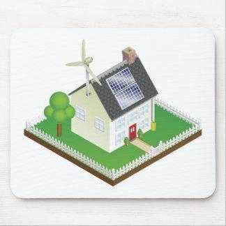 Nachhaltiges Haus der auswechselbaren Energie Mauspad