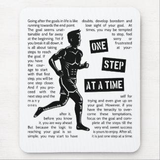 Nachlaufen Ziele motivierend Inspirational Mousepads