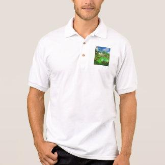 Nachmittag im tropischen Garten - Miami, Florida Polo Shirt