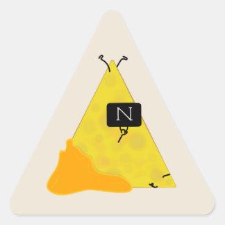 NACHO-TASCHE Tortilla-Chip mit dem Käse, der eine Dreieckiger Aufkleber